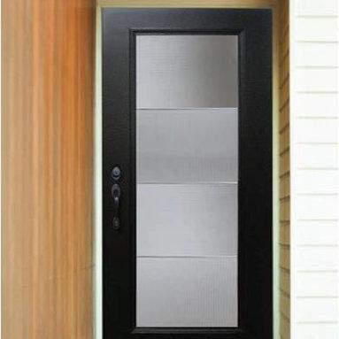 Smooth Skin Fiberglass Door Series - 3/0 x 6/8 Smooth Skin Series: Flush w/ Aberdeen Doorlite---