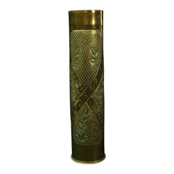 EuroLux Home - WWI Shell Trench Art Inscribed Nieuport - Product Details