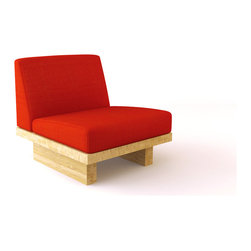 Viesso - Viesso Bamboo Float Chair (Eco-Friendly) - This chair, comprised of bamboo and fabric of your choice, offers an innovative seating solution. It's offers plenty of comfort, especially for how minimal it is.  Viesso designs and manufactures this piece of modern furniture. All of the chairs from the Viesso line are built one at a time in Los Angeles in 3 weeks. With all the custom options available, they are truly built for you and your space.  A custom chair that's also an eco chair. Yes, it's that good.