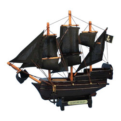 "Handcrafted Nautical Decor - Captain Kidd's Adventure Galley 7"" - Model Toy Ship - Not a Model Ship Kit"