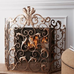 Acanthus Fireplace Screen - •Handcrafted of iron.