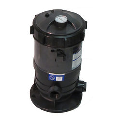 SUNSOLAR - Cartridge Filter System With Pressure Gauge For Swimming Pools 30Sf - This filter system has set the standard for quality, superior flow rates, and unmatched water clarity. This filter system has a built in pressure gauge and air relief valve. The rugged filter tank is constructed of tough weather resistant and corrosion proof polymer plastic. Inside, our extra large filter elements produce water quality superior to sand filters without backwashing. Large 1  inch drain plug to ensure easy clean up and quick water drainage. They require a minimum of cleaning, insuring hassle free operation.