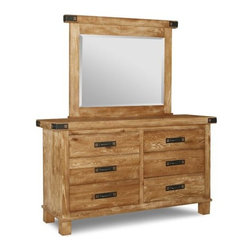 Hammerton Dresser & Mirror - Handstone. 62w x 19d x 37h. Mirror optional. Available for order at Warehouse 74.