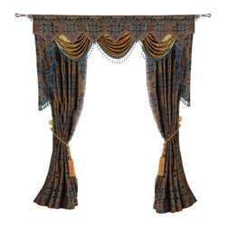 "Ulinkly.com - Luxurious window curtain - Jack Win, 54""*84"", 2 Panels with Valance - This price includes 2 panels and valance, each panel is 54""/84"", 100% Chenille."