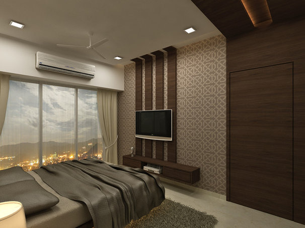 Asian Bedroom by Xllence Interior