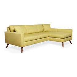 True Modern - Dane Apartment Sofa, Wheatgrass - If you're tight on space but want a sofa that's big on style, this is the perfect fit. As the name implies, it's specifically designed for apartment living with a smaller footprint, so it won't take up a lot of room.