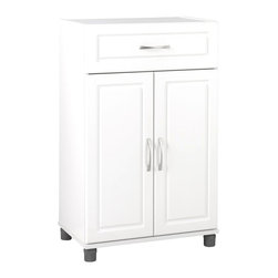 Ameriwood - SystemBuild 1 Drawer 2 Door Cabinet - Ameriwood - Storage Cabinets - 7367401PCOM - When things need to be put in their place put them in SystemBuild storage items. These stylish yet practical items offer simple storage solutions for your bedroom kitchen laundry room living room garage or closet. Turn any room into convenient storage space. SystemBuild offers a wide variety of storage items that make life a little easier and a lot more organized.