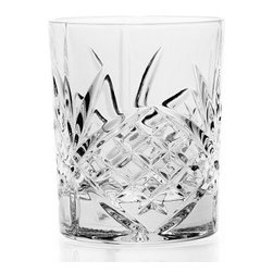 Godinger Silver - Dublin Crystal Double Old Fashioned Glasses Set of 12 - Serve your drinks in the premium glassware they deserve and set a new standard in your home with the Dublin DOF glasses, crafted from genuine crystal. The unique cut pattern add a substantial note of sophistication when serving up cocktails. This impressive 12 set glasses is the perfect compliment to any setting.