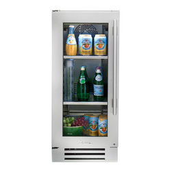 """15"""" Glass Door Undercounter Refrigerator - In the kitchen or next to the grill, the True Professional Series®Undercounter Refrigerator gives you complete cooling flexibility wherever you need it. With the only glass door in the industry that's UL-rated for outdoor use, it's the perfect combination of performance, style, and design for real life."""