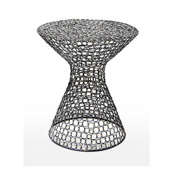 Interlude Home - Dendara Wire Table - Some accent tables merely live up to their name and just add a slight accent. If you are looking one that goes above and beyond, you've found it. The intricate design of this steel piece is a thing of beauty and will fit anywhere you want a table that doubles as a piece of art.