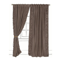 Parlor Curtain - Layering these rich velvety curtains over your basic sheers would add instant charm and a touch of romanticism to your home.