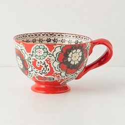 "Anthropologie - Elka Mug - StonewareDishwasher and microwave safe12.25 oz3""H, 4.5"" diameter Imported"