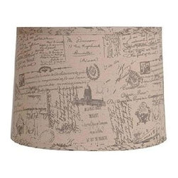 Home Decorators Collection - Home Decorators Collection Drum 10 in. H x 14 in. W Small French Script Linen Sh - Shop for Lighting & Fans at The Home Depot. Our Drum Linen Lamp Shade is just the touch you need to pull your decor together. The softness of linen will add classic stability to your look. Add one to your current decor today.