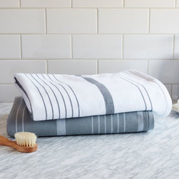 Row Stripe Towel - Always keep your towels simple. These are just perfect.