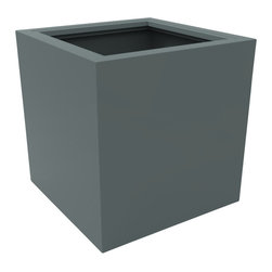 Decorpro - Large Athens Planter, Medium Gray - The Athens planter is versatile in that it can be used in a variety of settings. From modern houses to traditional spaces, the simple shape of this planter ensures that it will always look good.