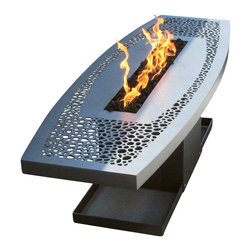 Home Infatuation - Coffee Table Fire Pit - Fire up your backyard with a chic, John Xochihua designed fire pit. The propane table is made from heavy gauge steel and finished with a water and heat resistant silicone. Its 6-foot span leaves plenty of room for cocktails and hors d'oeuvres.