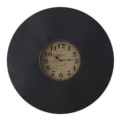 Industrial Chalkboard Wall Clock - This chalkboard wall clock is sweet enough for any home. Put it in the home office, kitchen or anywhere you need to leave quick notes.