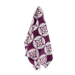 """Suki Cheema - Moscow Purple Tea Towel - Suki Cheema - A love affair between art, travel and textiles - Suki's ranges are inspired by his travels throughout the world. Pulling from landscapes, city streets, buildings and people, Cheema has created an incredibly unique (and beautiful) collection of home accessories. Each of these tea towels are hand-printed on 100% cotton and measure 18"""" x 26""""."""