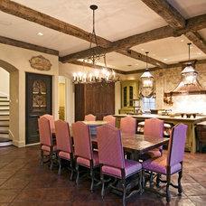 Mediterranean Dining Room by Allan Edwards Builder Inc