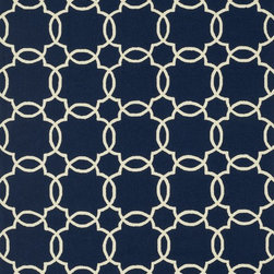 """Loloi Rugs - Loloi Rugs Ventura Collection - Navy/Ivory, 7'-6"""" x 9'-6"""" - Set the foundation for a beautiful outdoor arear with the well-designed Ventura Collection.  Hand-hooked in China of 100% polypropylene, Ventura's fresh geometric patterns and bright, on-trend colors will immediately update your patio or poolside with can't-miss style.  Each Ventura rug is specially treated to withstand UV rays, rain, mold, and mildew, so it'll remain bold and bright no matter what weather nature brings."""