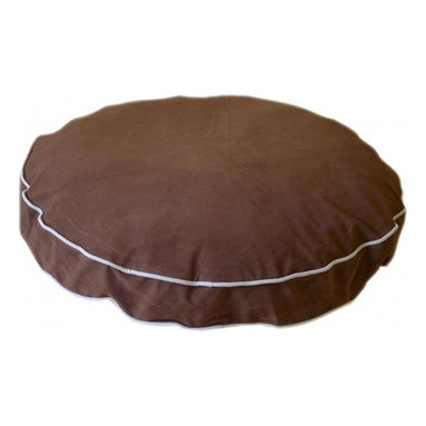 Carolina Pet Company - Microfiber Round About, Chocolate, 27 X 4 - Plush easy care microfiber fabric repels hair and dirt.  High loft recycled Polyester fill keeps pets happy and healthy by relieving pressure on hips and joints. Zippered removable cover for machine washing and drying.  Recommend warm setting with mild detergent and cool dry setting.