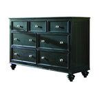 American Drew - American Drew Camden 7-Drawer Double Dresser in Black Finish - American Drew-Dressers-919221-