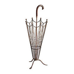 Umbrella Stand - The rain is a welcomed sight most of the time, but not if you'd like to maintain your blow-out. Place your fabulous umbrella in this unique and quite functional holder.