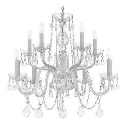 The Gallery - Crystal Chandelier - For unsurpassed elegance, make this chandelier your ceiling centerpiece. The tiered design lets it sparkle like a fabulous fountain of light.