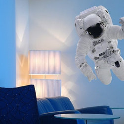 Binary Box - Educational Astronaut Wall Sticker - The Educational Astronaut Wall Sticker is out of this world! Depicting a high resolution photograph that makes you feel as if the astronaut is really with you in the room, this wall sticker is perfect for all science enthusiasts and creates a stunning visual effect in any living space. Our science wall stickers aren't only decorative, they're educational too. A space suit is made up of many complex parts that allow the astronaut to survive in the vacuum of space. This wall sticker comes as seven (7) individual stickers that allow you to build the spacesuit from scratch and learn how it works.