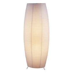 Adesso - Adesso 6135-02 Suki Floor Lantern - Ribbed with bamboo, this floor lantern by Adesso has a collapsible white rice paper shade, lined with a second layer of rice paper, for a diffused, soft lighting effect. A foot step switch allows for overall operation of two 75-watt bulbs.  About Adesso  Adesso was established in 1994, with the vision and belief that consumers who sought high-end contemporary home products at affordable prices would be able to do so. �Adesso has been able to redefine residential spaces with its innovative, well-designed and well priced products. They have integrated an array of colors and materials in the design of their products to include renewable bamboo, cork, glass, resin, woven fabric, rice-paper and even metals.� Adesso is shaping the future of home design and they�re driven by the simple idea that your home is a canvas.
