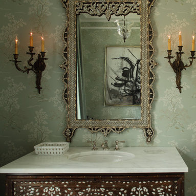 Severn River Residence - Custom vanity and bathroom, designed by Good Architecture, PC -
