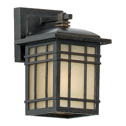 Quoizel Lighting - Quoizel Lighting HC8406IB 1 Light Small Outdoor Wall SconceHillcrest Collection - For over seventy years, Quoizel lighting has been dedicated to the design and production of its diversified line of fine lighting products and home accessories.