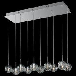 ET2 Bubble Glass Orb 10-Light 33 3/4-Inch-W Pendant Light -