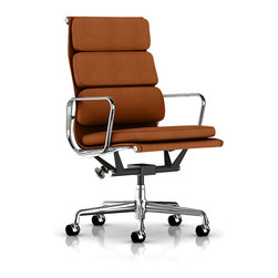 Herman Miller - Herman Miller Eames Soft Pad Executive Chair - Fabric - This chair commands attention, while providing you with supportive comfort. It features an inviting seat pad and a high backrest that sports a three-tiered cushion. What's more, the padding doesn't obstruct any of the chair's natural curves.