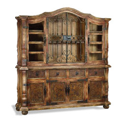 Koenig Collection - Rustic Old World Hutch Catalonia, Fresco Brown Ochre - Rustic Old World Catalonia, Fresco Brown Ochre