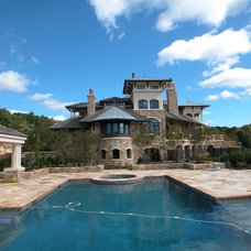 Mediterranean Swimming Pools And Spas by Marmiro Stones, Inc