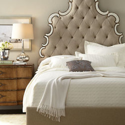 Horchow - Bristol King Set - Regal bedroom furniture combines oversize tufted headboards with a shapely nightstand to create the perfect nighttime retreat. Save with discounted delivery and processing charges when you order a set. Handcrafted of hardwood solids and laminated lumber. Queen set includes queen bed and two nights