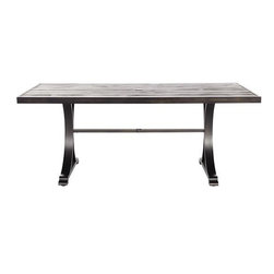 Home Decorators Collection - Martingale Rectangular Outdoor Dining Table - A beautiful farmhouse-style table lends weight and vintage charm to your outdoor dining. This one's fabulous barn wood look will pair perfectly with a variety of styles.
