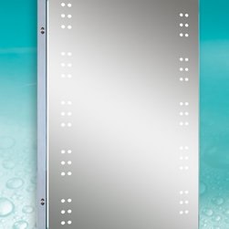 LED Illuminated Mirrors - Lighted Image presents this modern and stylish illuminated bathroom mirror with LEDs clustered down each side. With a degree of sophistication, this bathroom mirror features a sensor switch that allows you to illuminate the mirror with the swipe of a hand and a de-mister to ensure your mirror stays crystal clear; mirror must be on for this to work. With its bright white lights, this LED illuminated bathroom mirror is perfect for your bathroom or anywhere in your home or business.