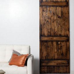 Barn Door - http://rusticahardware.com/solid-alder-barn-door/ - A Solid Alder Barn Door