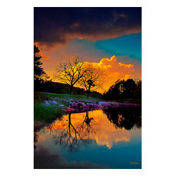 Late Afternoon Storm Photograph - Northwest Arkansas area photograph with digital painting applied. Available on metal in editions of 200. The next available edition number will be shipped.