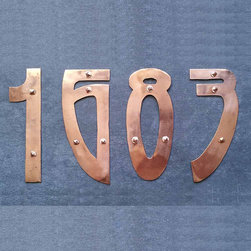 Art Nouveau Metal House Number by David Meddings DeSign - OK, I might be a little biased because it's one of my favorite periods in art, but how can you not love the curves of these art nouveau house numbers?