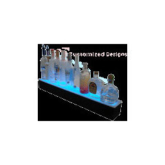 1 Step Lighted Bottle Display - Customized Designs