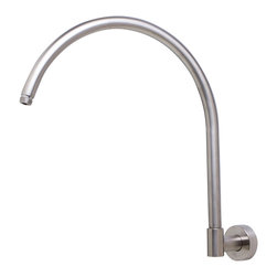 """ALFI - ALFI 16"""" Round Wall Mounted Brushed Nickel Shower Arm for Rain Shower Heads - This round extra long shower arm comes in a polished chrome or brushed nickel finish and is perfect for use with extra large shower heads like the rain series. Replace that old tiny arm with a shiny new long arm to upgrade the look of your shower and improve its functionality."""