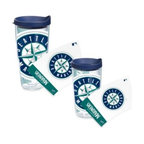 Tervis - Tervis Seattle Mariners Wrap Tumbler with Blue Lid - Drink up and let everyone know which professional baseball team you're rooting for with this Seattle Mariners Tervis Wrap Tumbler featuring a colossal team logo. Double walled insulation greatly reduces condensation and sweating.