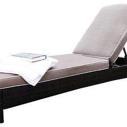 Crosley - Catalina Outdoor Wicker Chaise Lounge - Dimensions:  23.5W x 22.75D x 32.5H in.
