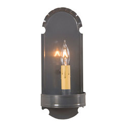 Irvin's Tinware - Foot Sconce in Country Tin - Beautiful in its simplicity, the warm glow of our sconces provide a hearty country welcome to every room in your home from entryway to family room. A versatile decorating accessory, it is perfect either alone on a wall or as part of a wall grouping.