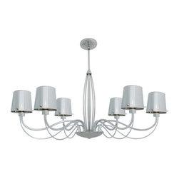 Access Lighting - Access Lighting 55533-CH/CHR  Chromed Glass Chandelier - Chromed Glass Chandelier