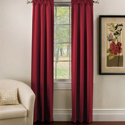 None - Ridgedale Thermal Backed Rod Pocket Curtain Panel Pair - Perfect for late sleepers,these stylish thermal backed curtains block out 99 percent of unwanted light and noise by as much as 40 percent more than regular curtains. These curtains also feature a rod pocket construction for easy installation.