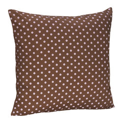 Sweet Jojo Designs - Pink & Brown Mini Dot Decorative Pillow by Sweet Jojo Designs - The Pink & Brown Mini Dot Decorative Pillow by Sweet Jojo Designs, along with the  bedding accessories.